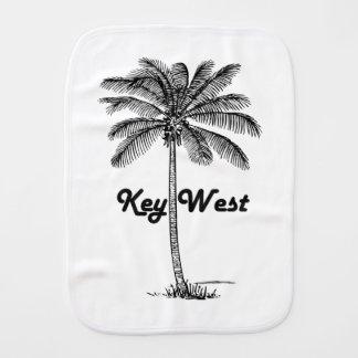Black and White Key West Florida & Palm design Burp Cloth