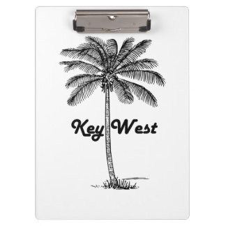Black and White Key West Florida & Palm design Clipboard