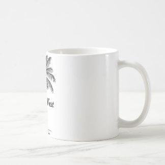 Black and White Key West Florida & Palm design Coffee Mug