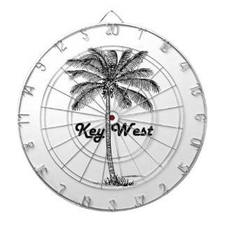 Black and White Key West Florida & Palm design Dartboard
