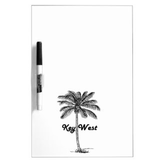 Black and White Key West Florida & Palm design Dry Erase Board