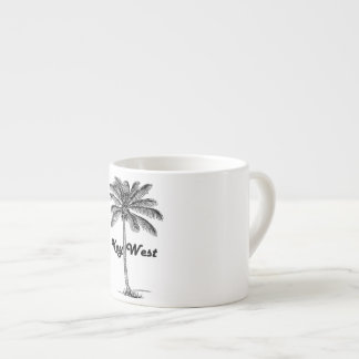 Black and White Key West Florida & Palm design Espresso Cup