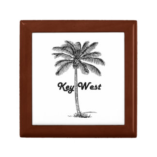 Black and White Key West Florida & Palm design Gift Box