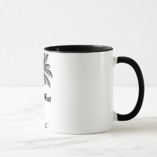 Black and White Key West Florida & Palm design Mug