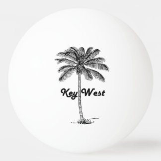 Black and White Key West Florida & Palm design Ping Pong Ball