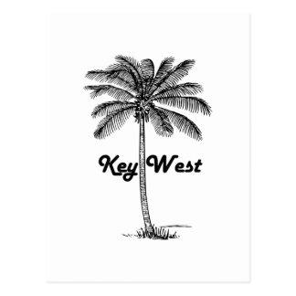 Black and White Key West Florida & Palm design Postcard