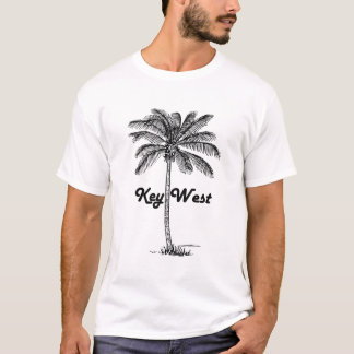 Black and White Key West Florida & Palm design T-Shirt