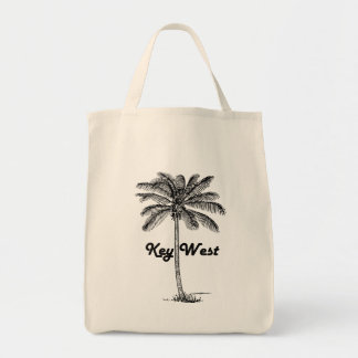 Black and White Key West Florida & Palm design Tote Bag