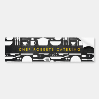 BLACK AND WHITE KITCHEN COLLAGE Bumper Sticker