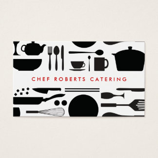 BLACK AND WHITE KITCHEN COLLAGE No. 3 Business Card