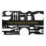 BLACK AND WHITE KITCHEN COLLAGE No. 4 Business Card Template
