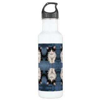 black and white kitten bottle 710 ml water bottle