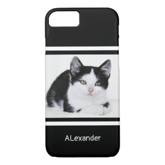 Black and White Kitten iPhone 8/7 Case
