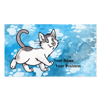 Black and White Kitty Business Card Templates