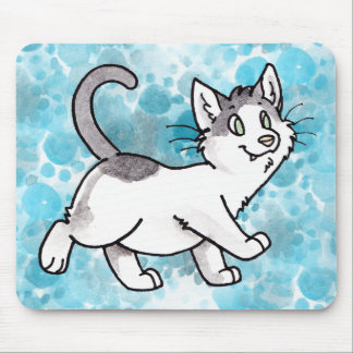 Black and White Kitty Mouse Pads