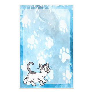 Black and White Kitty Stationery