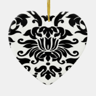 Black and White Lace Ornaments