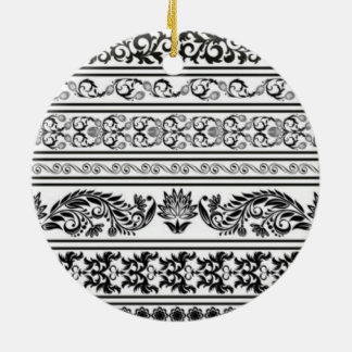 Black and White Lace Christmas Ornament