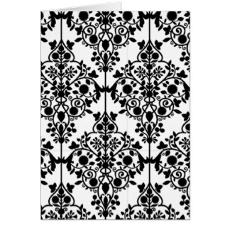 Black and White Lace Wallpaper Card