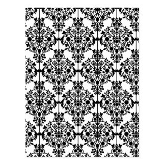 Black and White Lace Wallpaper Postcard