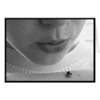Black and White Ladybug Card