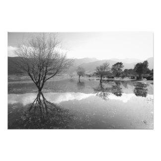 Black and White lake Photograph
