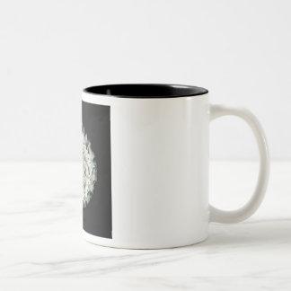 Black and White Lampwork Glass Coffee Mug Cup