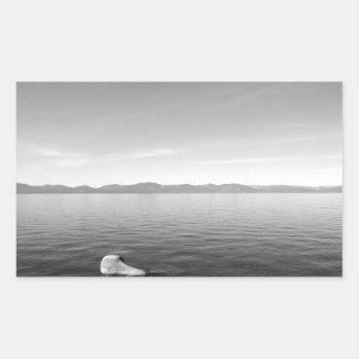 Black And White Landscape 11 Rectangular Sticker
