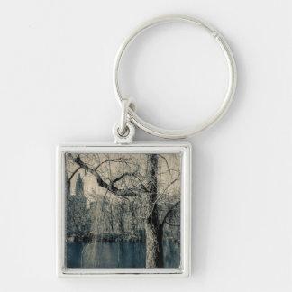 Black and White Landscape Photo Key Chains