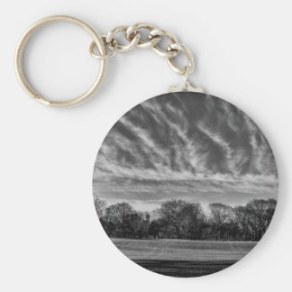 Black and White Landscape Photo of Central Park Key Chain