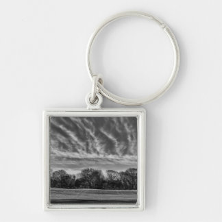 Black and White Landscape Photo of Central Park Key Chains
