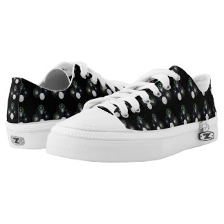 Black And White Lawn Bowls Pattern, Low Tops