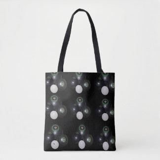Black And White Lawn Bowls Pattern, Tote Bag