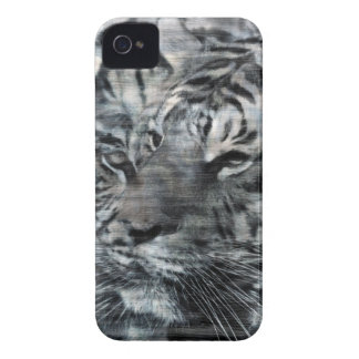 Black and White Layered Tigers Vintage iPhone 4 Case-Mate Case