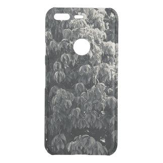 Black and White Leafy Google Pixel Phone Case