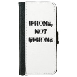 black and white leather iphone wallet
