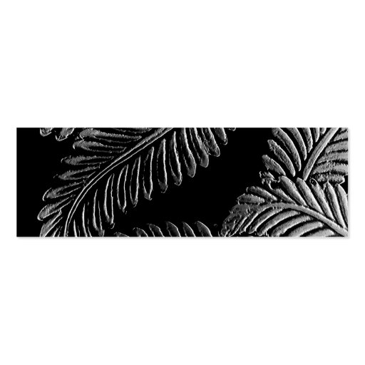 Black and White Leaves Bookmark Business Card