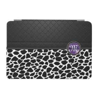 Black and White Leopard Design | Purple Label iPad Mini Cover