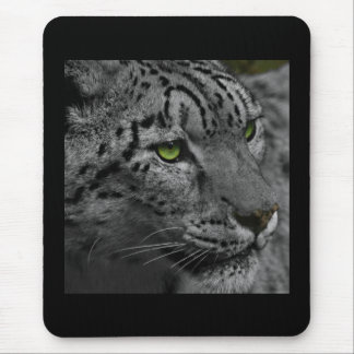 Black and White Leopard Mouse Pad