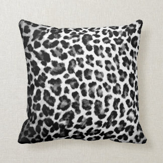 Black and White Leopard Print Pillow