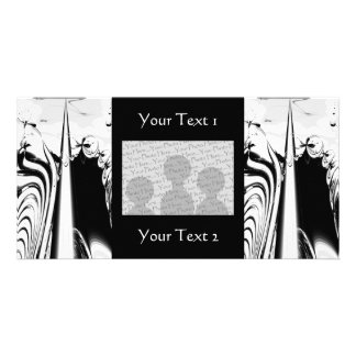 Black and White Lines and Swirls Customized Photo Card