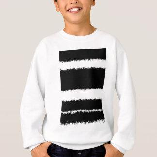 black and white lines sweatshirt