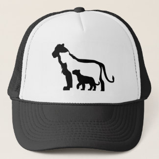 Black and White Lions Trucker Hat
