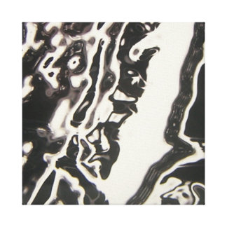 Black and White Liquid Art Canvas