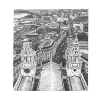 Black and White London Aerial View Notepad