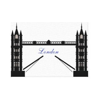 Black and White London Canvas Print