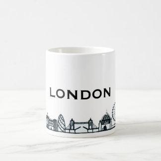 Black and White London Skyline Coffee Mug