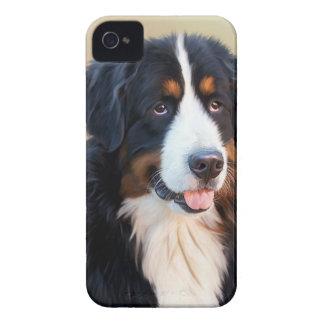 Black and White Long Coat Dog iPhone 4 Case-Mate Case