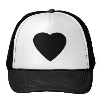 Black and White Love Heart Design. Cap