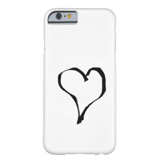 Black and White Love Heart Design. Barely There iPhone 6 Case